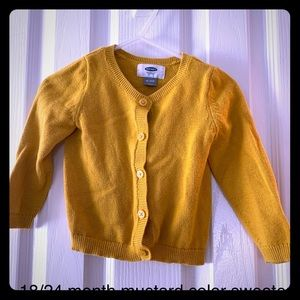 *sold*12/24 month old navy sweater/ cardigan